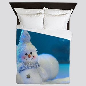 Christmas Snowman Queen Duvet
