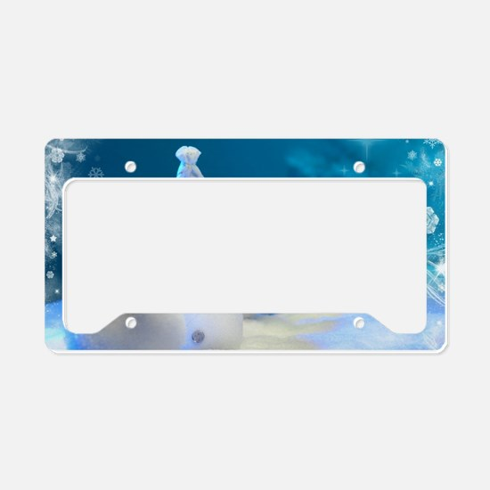 Christmas Snowman License Plate Holder