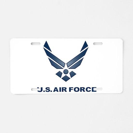 USAF Symbol Aluminum License Plate