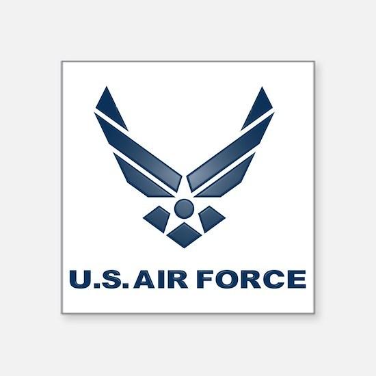 "USAF Symbol Square Sticker 3"" x 3"""