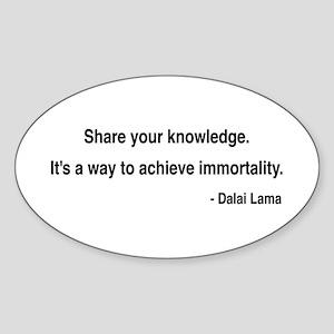 Dalai Lama 3 Oval Sticker