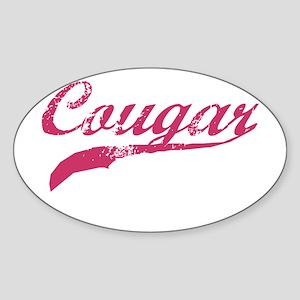 COUGAR SHIRT MILF MATURE SEXY Oval Sticker