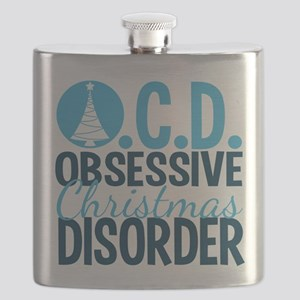 Christmas Obsessed Flask