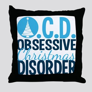 Christmas Obsessed Throw Pillow