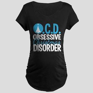 Christmas Obsessed Maternity Dark T-Shirt