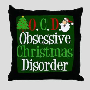 Christmas Green Throw Pillow