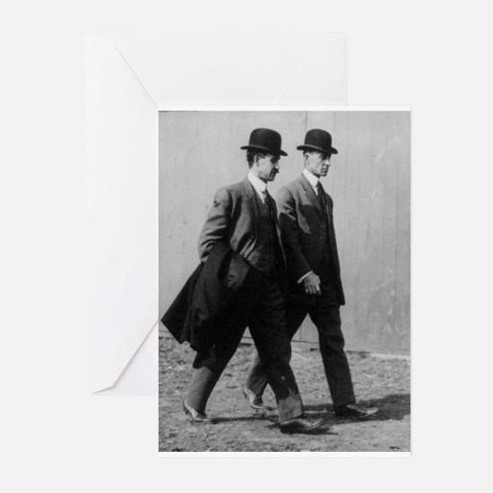 orville and wilbur wright Greeting Cards