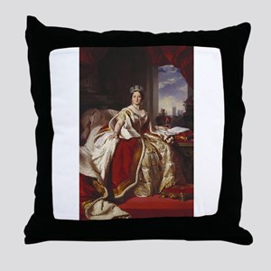 queen victoria Throw Pillow