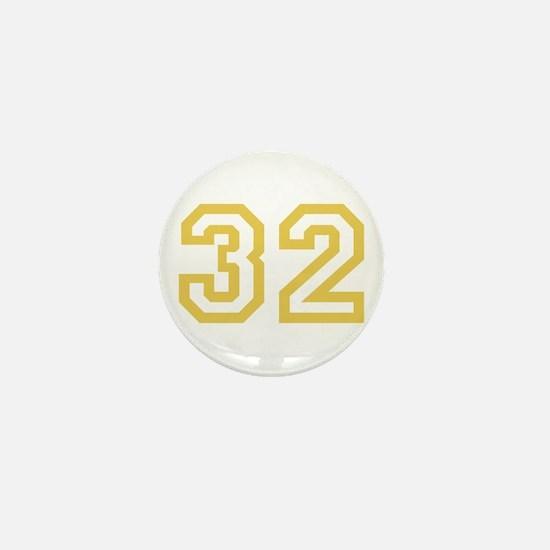 GOLD #32 Mini Button