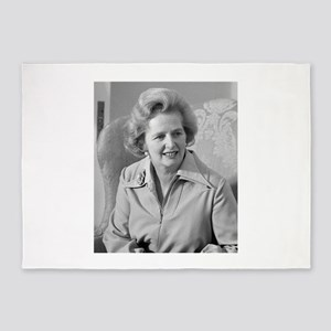margaret thatcher 5'x7'Area Rug