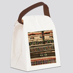 Beaded Realistic Art Canvas Lunch Bag