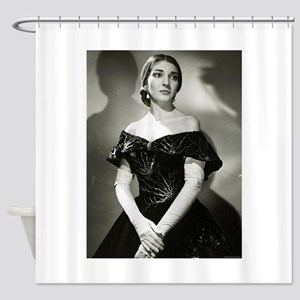 maria callas Shower Curtain