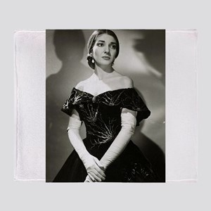 maria callas Throw Blanket