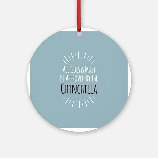 Chinchilla Approved Ornament (Round)