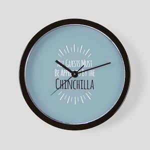 Chinchilla Approved Wall Clock
