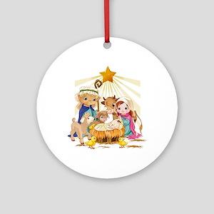 Nativity- Ornament (Round)