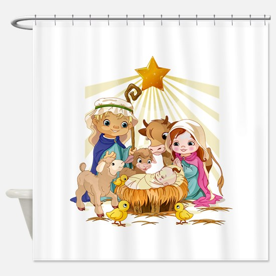 Nativity- Shower Curtain