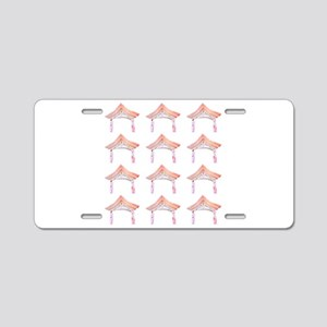 Pink Asian Temple 4Claire Aluminum License Plate