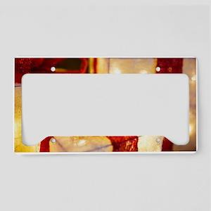 Illuminated Christmas License Plate Holder