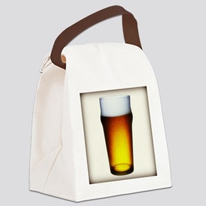 Stylized Beer Glass Canvas Lunch Bag