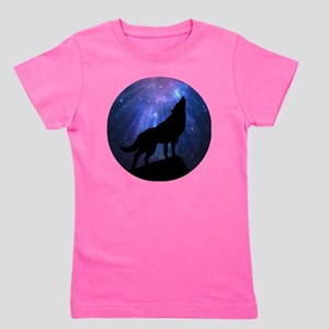 Celestial Wolf Round Girl's Tee