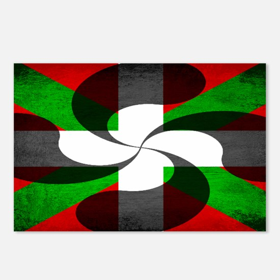 Basque Flag and Cross Postcards (Package of 8)