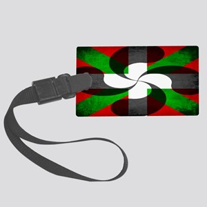 Basque Flag and Cross Large Luggage Tag