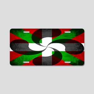Basque Flag and Cross Aluminum License Plate