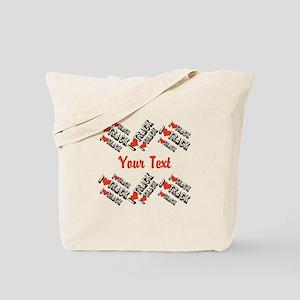 Customize I Love Track Tote Bag