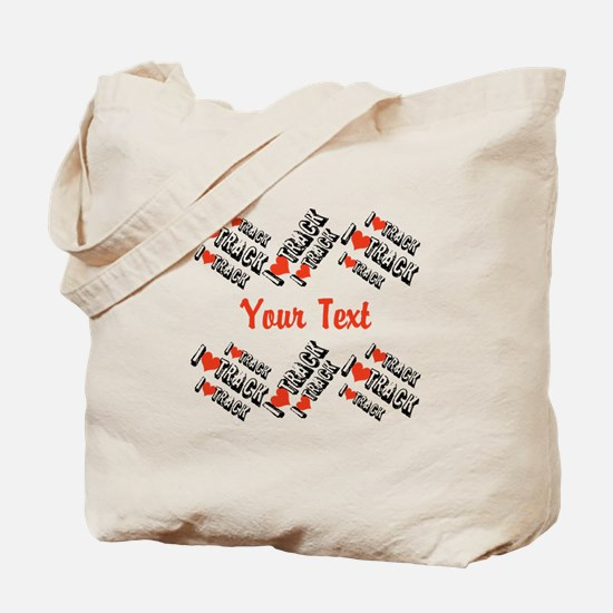 Customize I Love Track Tote Bag