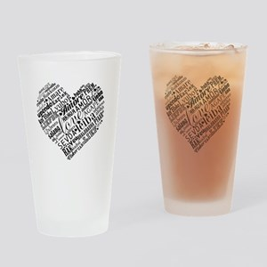 LOVE in different languages Drinking Glass