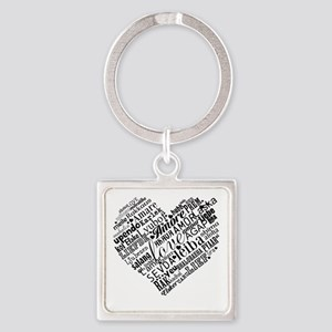 LOVE in different languages Keychains