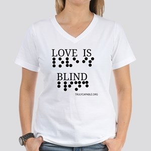 Love Is Blind p Women's V-Neck T-Shirt