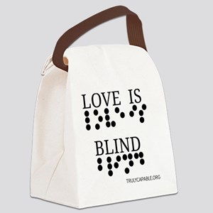 Love Is Blind p Canvas Lunch Bag