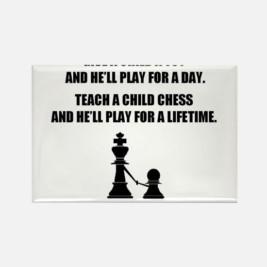 Cute Chess Rectangle Magnet