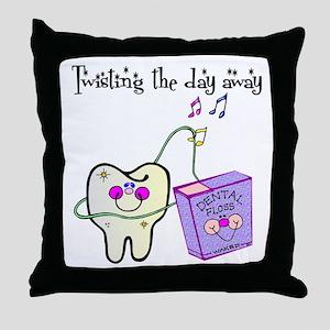 Twistin the Day Away Throw Pillow