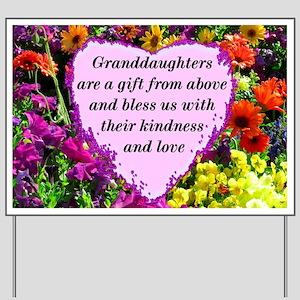 GRANDDAUGHTER Yard Sign