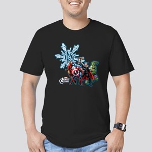 Holiday Avengers Men's Fitted T-Shirt (dark)