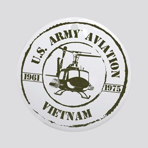 Army Aviation Vietnam Ornament (Round)