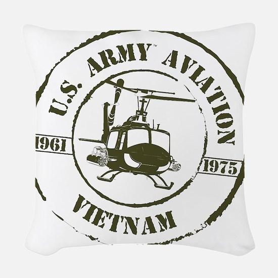 Army Aviation Vietnam Woven Throw Pillow