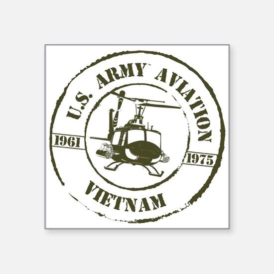 "Army Aviation Vietnam Square Sticker 3"" x 3"""