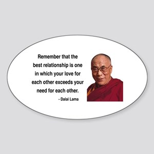 Dalai Lama 4 Oval Sticker