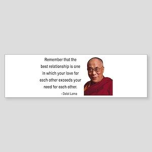 Dalai Lama 4 Bumper Sticker