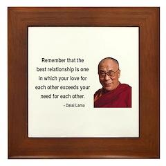 Dalai Lama 4 Framed Tile