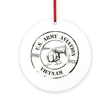 Army Aviation Vietnam Ornament (Round)