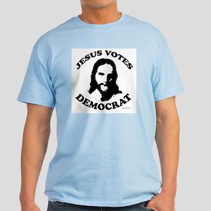 Jesus Votes Democrat Light T-Shirt