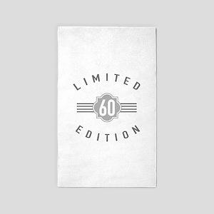 60th Birthday Limited Edition 3'x5' Area Rug