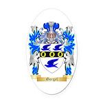 Gorgel Oval Car Magnet