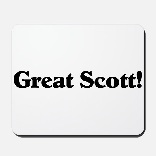 Great Scott (black) Mousepad
