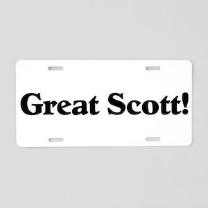 Great Scott (black) Aluminum License Plate